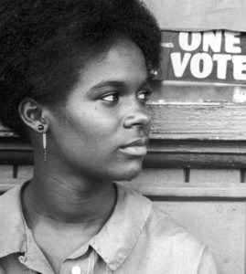 Gracie Hawthorne, volunteer for the 1964 Freedom Summer campaign to register voters in Mississippi. Photo by Herbert Randall.
