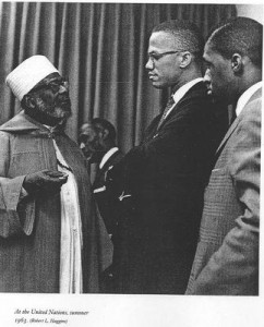 Malcolm X at the United Nations in 1963. Photo by Robert Haggins.